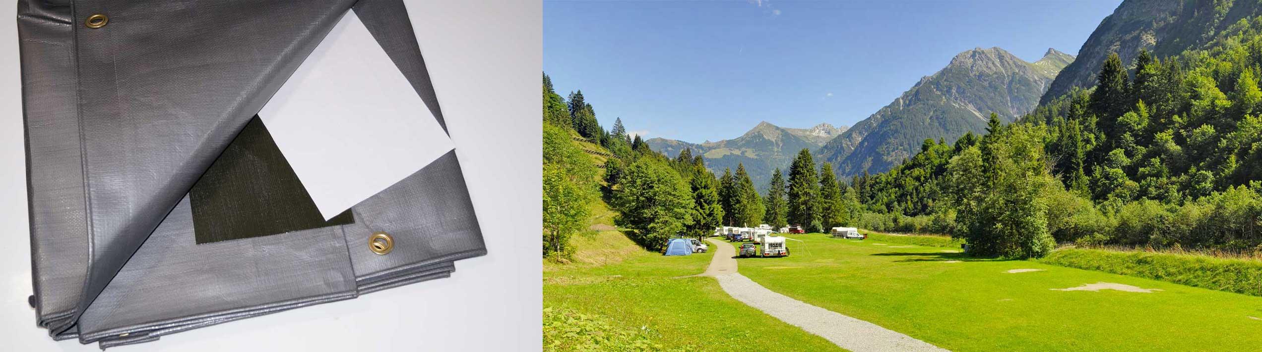 Schutzplane Camping