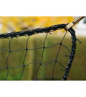 Taubennetz schwarz mit Randkettelung