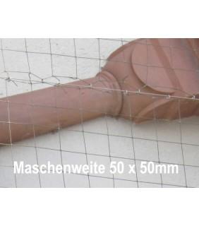 Taubenschutznetz schwarz, 50 x 50 mm, geknotet, auf Maß