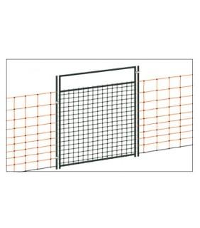 Tür für Elektrozaunnetze, elektrifizierbar bis 125 cm