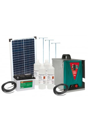 Weidezaungerät set Savanne 3000 solar NEU