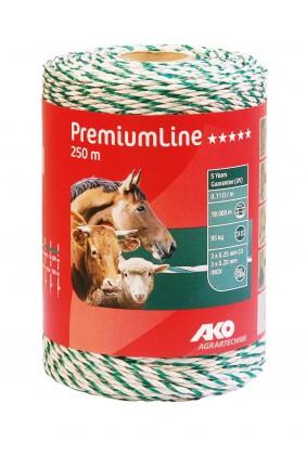Weidezaunlitze Premium weiss,grün