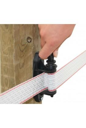 Bandspanner für Weidezaunbänder Anwendung 1