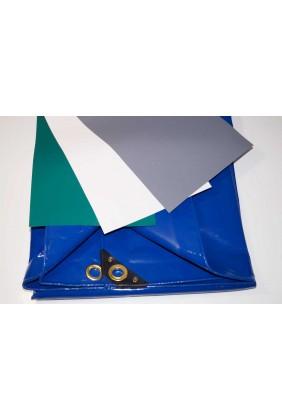 Holzabdeckplane PVC grün 650 gramm
