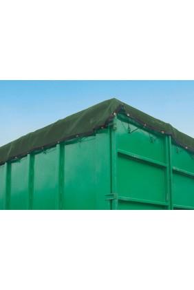 Containernetz grün feinmaschig Anwendung