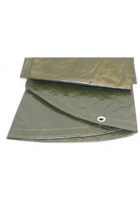 Holzabdeckplane rund grün Detail
