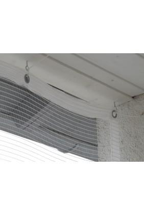 Hagelschutznetz weiss mit Saum und Ösen