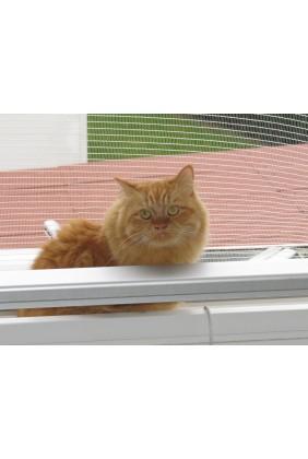 Katzenschutznetz mit Saum und Ösen