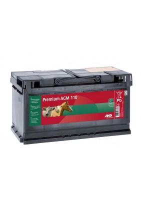 Weidezaunbatterie Premium AGM Akku 12V, 110 Ah