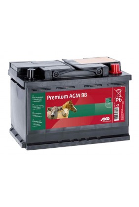 Weidezaunbatterie Premium AGM Akku 12V, 88 Ah