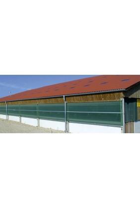 Windschutznetz grün Anwendung